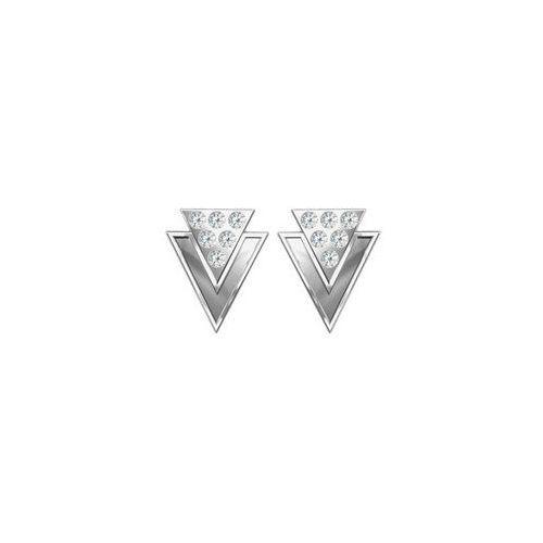 Sztyfty Trójkąty z kamieniami Swarovskiego, srebro próba 925, SZ 41
