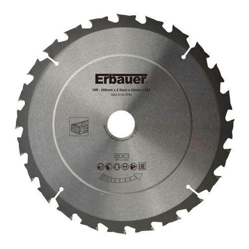 Tarcza do drewna Erbauer 250 x 30/25/20/16 mm 24T