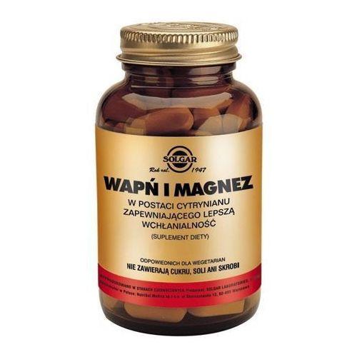 Tabletki SOLGAR Wapń i Magnez w postaci cytrynianu x 100 tabletek