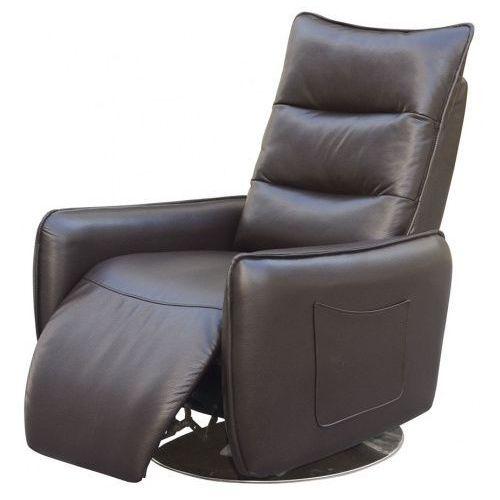 Rozkładany fotel Lergo  brązowy kolor brązowy