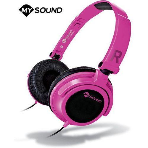 Słuchawki z mikrofonem Meliconi Speak Smart Fluo Różowe (497437BA) Darmowy odbiór w 21 miastach!