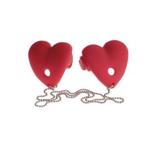 Fetish fantasy Vibrating heart pasties red | 100% dyskrecji | bezpieczne zakupy