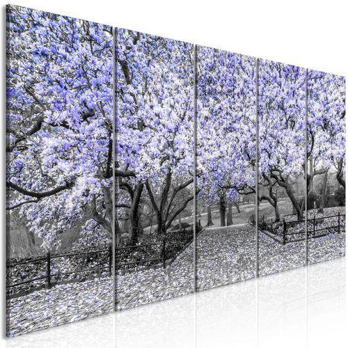 Obraz - Park magnolii (5-częściowy) wąski fioletowy