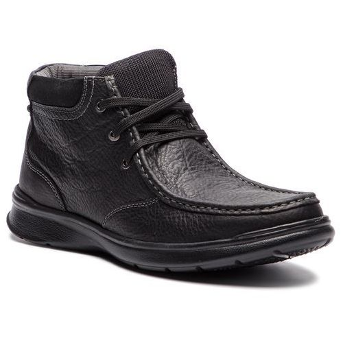 Clarks Trzewiki - cotrell top 261367037 black oily leather