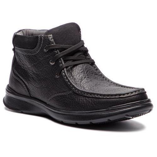 Trzewiki CLARKS - Cotrell Top 261367037 Black Oily Leather, kolor czarny