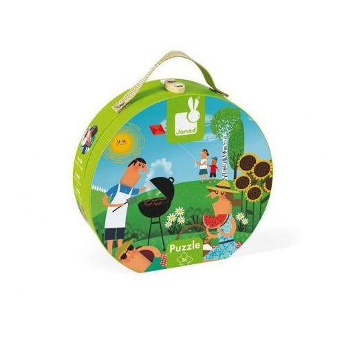 Puzzle panoramiczne w walizce 4 pory roku 36 elementów marki Janod