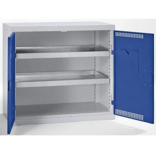 Szafa ekologiczna, drzwi perforowane, wys. x szer. x głęb. 900x1000x500 mm, 2 pó marki Stumpf-metall