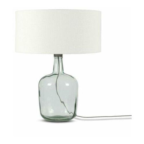 Good & mojo Murano-lampa stojąca szkło/len wys.44cm (8716248080699)
