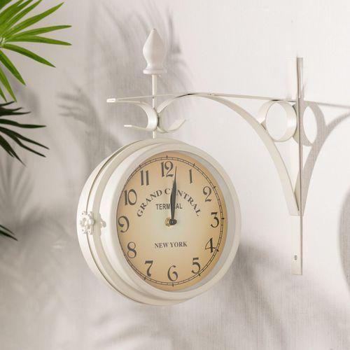 Dekoria Zegar Ścienny Grand Central 34x10x35cm, 34 × 10 × 35 cm