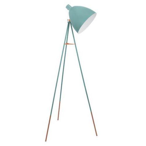 Lampa podłogowa Eglo Dundee 49342 Vintage oprawa 1x60W E27 miętowa, 49342