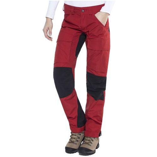 authentic spodnie długie kobiety czerwony 42 2018 spodnie turystyczne marki Lundhags