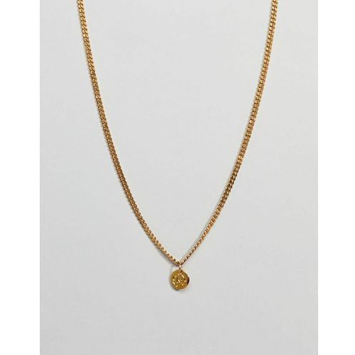 Mister Micro Curb Necklace In Gold - Gold