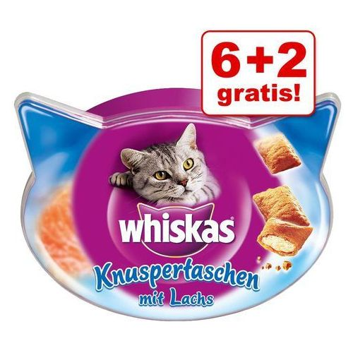 6 + 2 gratis! Whiskas Temptations przysmak dla kota, 8 x 60g - Łosoś (5998749134023)