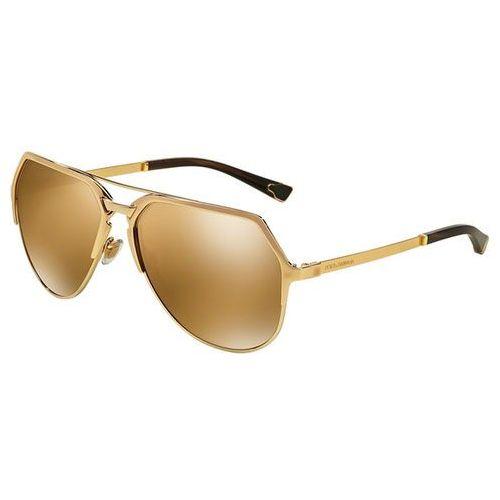 Okulary Słoneczne Dolce & Gabbana DG2151 Gentleman K440F9, kolor żółty