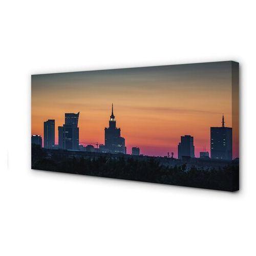 Obrazy na płótnie warszawa zachód słońca panorama marki Tulup.pl