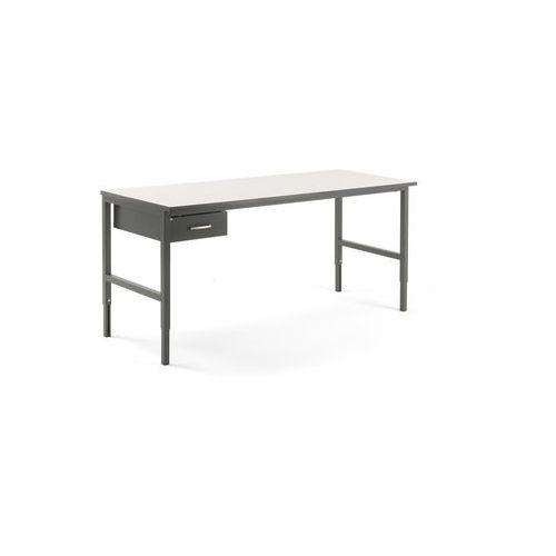 Stół roboczy CARGO, z szufladą, 2000x750 mm