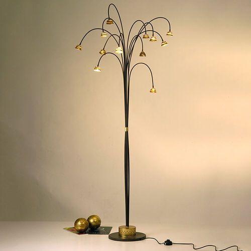 Holländer snail two lampa stojąca brązowy, złoty, 12-punktowe - nowoczesny - obszar wewnętrzny - two - czas dostawy: od 8-12 dni roboczych (4250151300009)