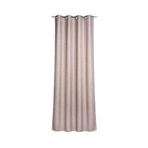 Zasłona LOOKS różowa 140 x 280 cm na przelotkach INSPIRE