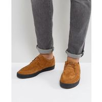 shields suede crepe trainers in tan - tan, Fred perry