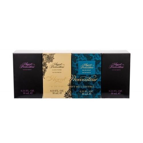 Agent Provocateur Gift Set zestaw 4x10 ml Edp Agent Provocateur 2x 10 ml + Edp Lace Noir 10 ml + Edp Blue Silk 10 ml dla kobiet