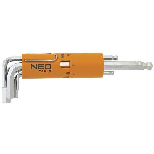 Neo Zestaw kluczy sześciokątnych  09-523 długie kuliste 2.5 - 10 mm (8 elementów)