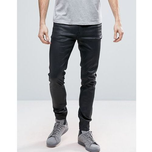 Cheap Monday Him Spray Jeans Coated Black Shine - Black