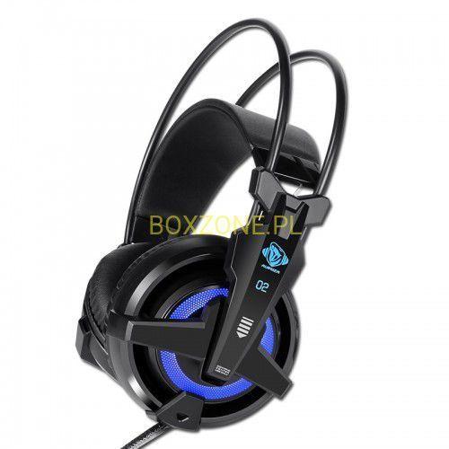 E-Blue, Auroza EHS950 FPS, Gaming Headset, regulacja głośności, czarna, USB niebieskie podświetlenie, wibracje