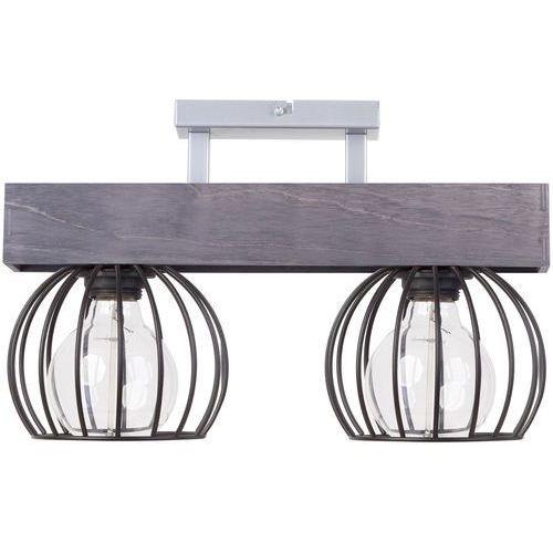 Sigma Lampa sufitowa milan 31705 druciana oprawa metalowe klatki drewno szare