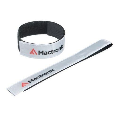 gadżet odblaskowy, opaska z rzepem biała MacTronic MRB0012 (5907596109238)