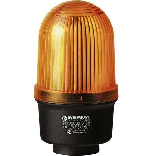 Werma signaltechnik Sygnalizator świetlny  219.300.00, światło ciągłe, ip65, żółty