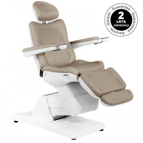 Fotel kosmetyczny elektr. azzurro 870 3 siln. cappuccino marki Activeshop