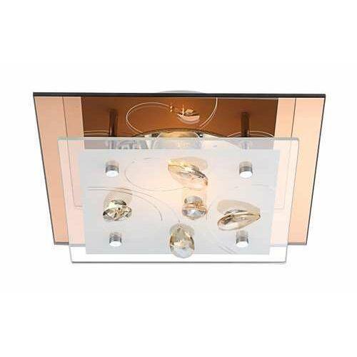 Plafon oprawa lampa sufitowa ayana 1x40w e27 biały, brązowy, przeźroczysty 40412 marki Globo