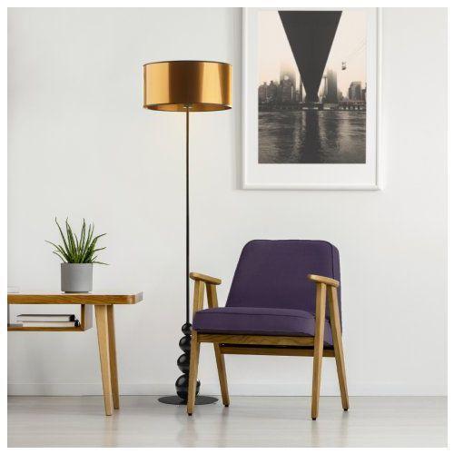 Lysne Nowoczesna lampa do salonu z włącznikiem nożnym roma mirror