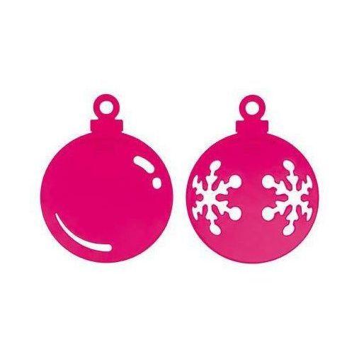 Dekoracja świateczna snow & shine 2 szt. różowa przezroczysta marki Koziol