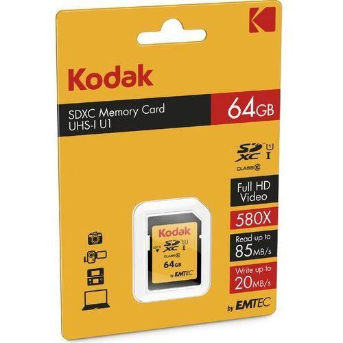 Kodak Karta pamięci 64gb sdxc class 10 u3 ekmsd64gxc10hprk darmowy odbiór w 20 miastach!