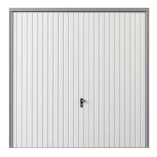 Brama garażowa uchylna 2500 x 2125 mm biała, BUI_GAR19_0001E