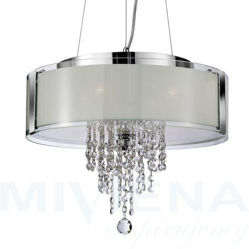 Lampa wisząca 4 chrom kryształ szkło marki Searchlight