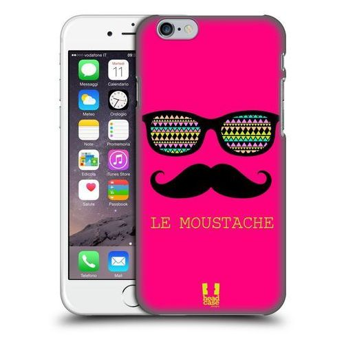 Etui plastikowe na telefon - Moustaches PINK LE