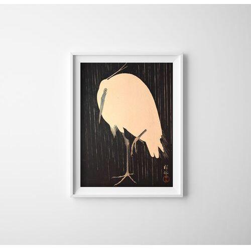 Plakat retro do salonu plakat retro do salonu żurawie w deszczu autorstwa ohary koson marki Vintageposteria.pl