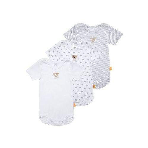 Steiff Collection ESSENTIALS 3 PACK Body softgrey melange, towar z kategorii: Body niemowlęce