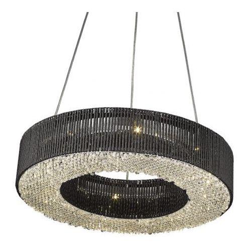 LAMPA WISZĄCA CARLO PENDANT P0207-08A ZUMALINE (BLACK), kolor czarny