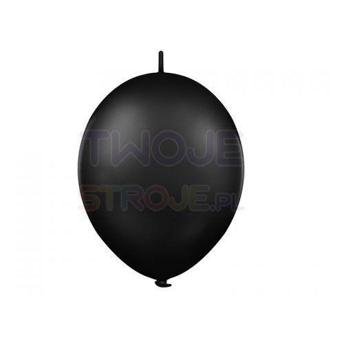Balon lateksowy pastel czarny z łącznikiem 27 cm 1 szt. marki Twojestroje.pl