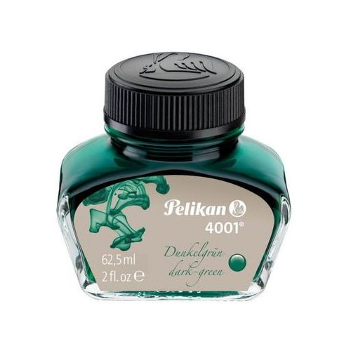 Atrament do pióra 4001 62,5ml cie-zielony PELIKAN - ciemno-zielony