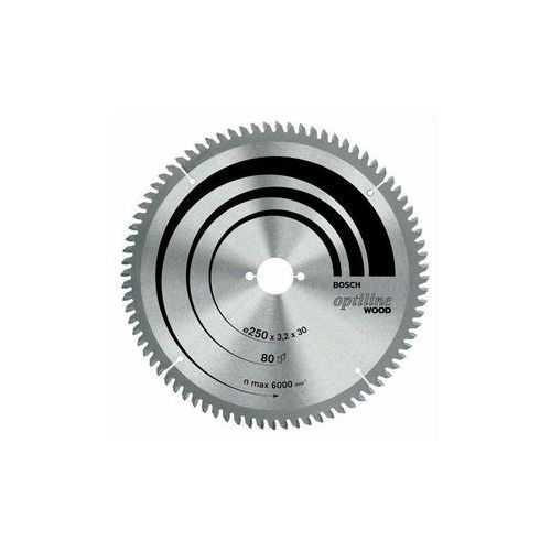 Bosch accessories Tarcza do piły tarczowej optiline wood, 250 x 30 x 3,2 mm, 80, sb3, 2 k&g  2608640645, 1 szt. (3165140194365)
