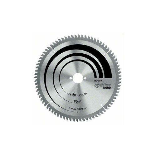 Tarcza do piły tarczowej Optiline Wood, 305 x 30 x 3,2 mm, 80 Bosch 2608641769, 1 szt. (3165140455572)
