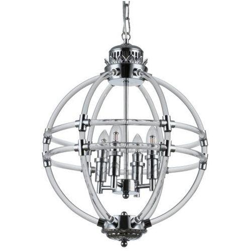 Lampa wisząca p04391ch metalowa oprawa kula świecznikowy zwis na łańcuchu chrom marki Evo