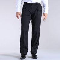 Proste spodnie z tkaniny syntetycznej marki Castaluna for men