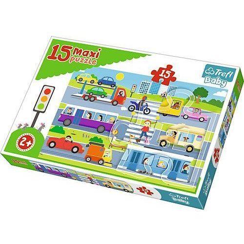 Trefl Puzzle baby 15 elementów maxi - pojazdy miejskie (5900511142792)