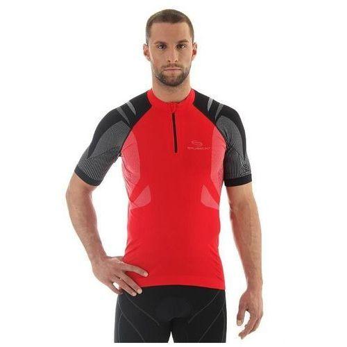 Brubeck Koszulka rowerowa unisex z krótkim rękawem ss10410 - czerwony (5902487007228)
