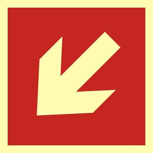 Kierunek do miejsca rozmieszczenia sprzętu pożarniczego lub urządzenia ostrzegającego marki Top design